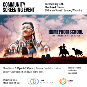 Attend the Lander Community Screening July 27, 2021 presented by LOR Foundation